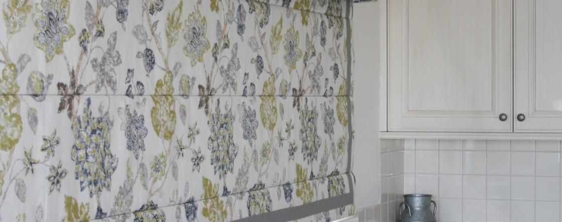 Roman Blind and Pelmet - Custom curtain fabric