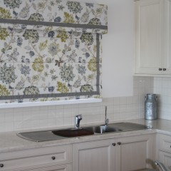 Roman Blind and Pelmet - Custom curtain fabric