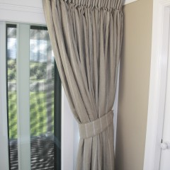 Linen Curtain and Tie Back.
