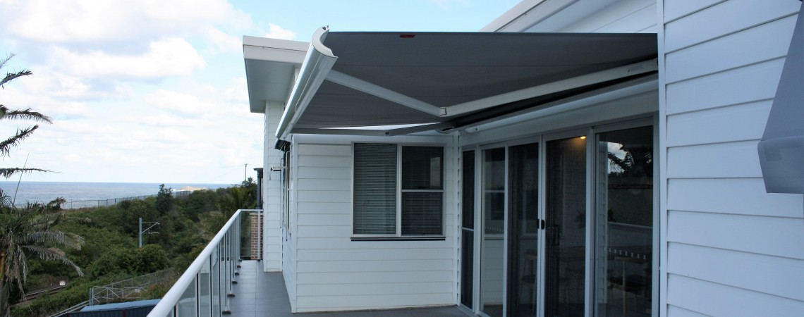 Weinor folding arm Awning.